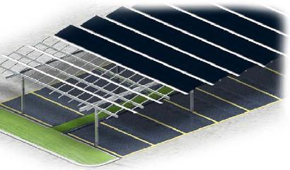 Solar Carport - Double Rows (NS-Side)